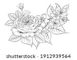 floral bouquet on white...   Shutterstock .eps vector #1912939564