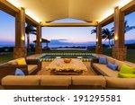 beautiful luxury home  exterior ... | Shutterstock . vector #191295581