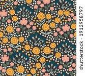 meadow flowers seamless... | Shutterstock .eps vector #1912958797