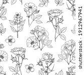 pattern flowers vector line...   Shutterstock .eps vector #1912967941