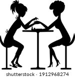 vector silhouettes of a girl... | Shutterstock .eps vector #1912968274