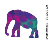 cartoon mosaic  elephant  cute... | Shutterstock .eps vector #191298125