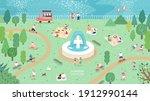 summer season park zone with... | Shutterstock .eps vector #1912990144