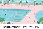 people are swimming in the... | Shutterstock .eps vector #1912990147