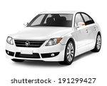 Stock photo white smart car 191299427