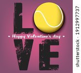happy valentines day. love and... | Shutterstock .eps vector #1912997737