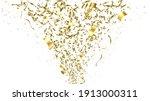 falling shiny golden confetti...   Shutterstock .eps vector #1913000311