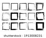 black frames set  square shaped ... | Shutterstock .eps vector #1913008231