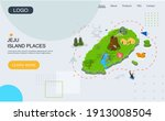 welcome to jeju island in south ... | Shutterstock .eps vector #1913008504