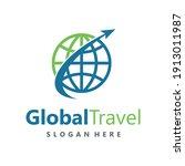 global travel logo design vector | Shutterstock .eps vector #1913011987