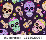 dia de los muertos  day of the... | Shutterstock .eps vector #1913020084