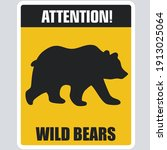 Vector Attention Icon Bear Sign....