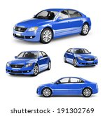 Image Of A Blue Car On...
