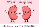 couple of cute cartoon kidney...   Shutterstock .eps vector #1913062891