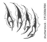 tattoo of surface scratched by... | Shutterstock .eps vector #1913086984