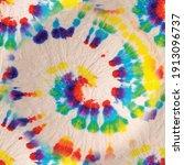 vector tie dye swirl. rainbow... | Shutterstock .eps vector #1913096737