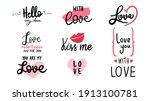 romantic lettering set  love...   Shutterstock .eps vector #1913100781