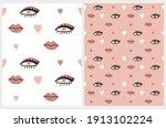 funny seamless vector patterns... | Shutterstock .eps vector #1913102224