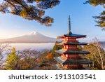 Rare Scene Of Chureito Pagoda...