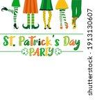 vector poster on st. patrick's... | Shutterstock .eps vector #1913130607