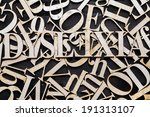 ''dyslexia'' word with wooden... | Shutterstock . vector #191313107