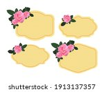 set of labels with roses | Shutterstock .eps vector #1913137357
