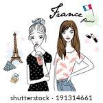 fashion girls | Shutterstock .eps vector #191314661