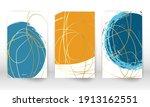 scribbles design. set of... | Shutterstock .eps vector #1913162551