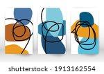 scribbles design. modern... | Shutterstock .eps vector #1913162554