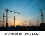 industrial landscape with... | Shutterstock . vector #191318324