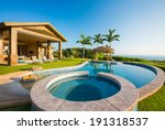 luxury home with swimming pool  ... | Shutterstock . vector #191318537