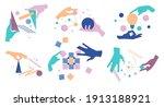 collection of cartoon human... | Shutterstock .eps vector #1913188921