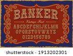 a vintage serif font in western ... | Shutterstock .eps vector #1913202301