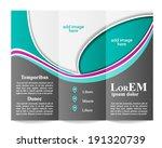 tri fold brochure template | Shutterstock .eps vector #191320739