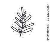 hand drawn foliage branch...   Shutterstock .eps vector #1913209264