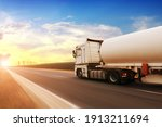 A Big Metal Fuel Tanker Truck...