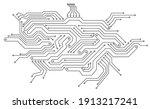 electronics board. circuit... | Shutterstock .eps vector #1913217241