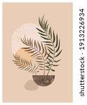 boho aesthetic abstract... | Shutterstock . vector #1913226934