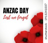 Vector Banner For Anzac Day....
