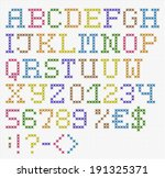 handmade english font with... | Shutterstock .eps vector #191325371