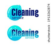 logos  company cleaning... | Shutterstock .eps vector #1913262874