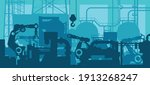 factory production line  ... | Shutterstock .eps vector #1913268247