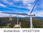 Wind Farm  Wind Turbines And...