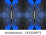 best pattern of blue and back... | Shutterstock . vector #191328971