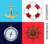 sea symbols | Shutterstock .eps vector #191330909