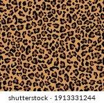 vector leopard pattern...   Shutterstock .eps vector #1913331244
