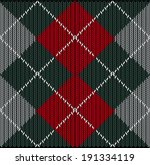 vector seamless argyle sweater... | Shutterstock .eps vector #191334119