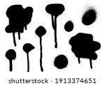 set of graffiti spray banner....   Shutterstock .eps vector #1913374651