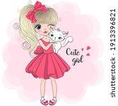 hand drawn beautiful  cute ...   Shutterstock .eps vector #1913396821