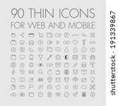 90 icons for web and mobile | Shutterstock .eps vector #191339867